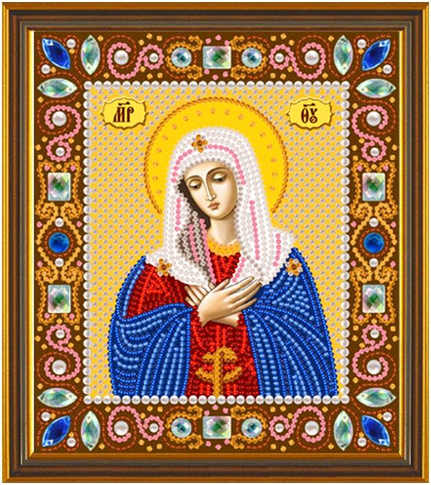 Вышивка бисером иконы богородица